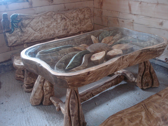 Meble Ogrodowe Aluminium I Drewno : JESZCZE RAZ SŁONECZNIKI I JESZCZE RAZ STÓŁ Z ŁAWKAMI A JEDNAK COŚ