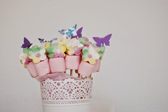 Centros de chuches con colores pastel