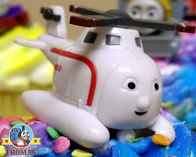 kids celebration cupcake Harold the helicopter Thomas the tank cake decorating ideas fun characters