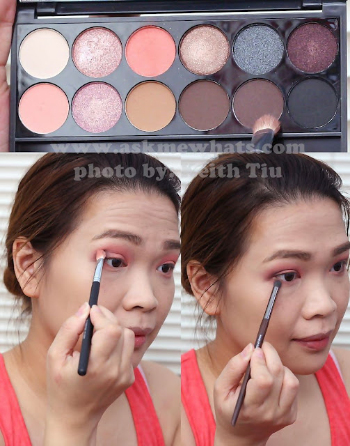 a photo of a Valentines Day Makeup tutorial Using Sleek i-Divine Oh So Special Palette