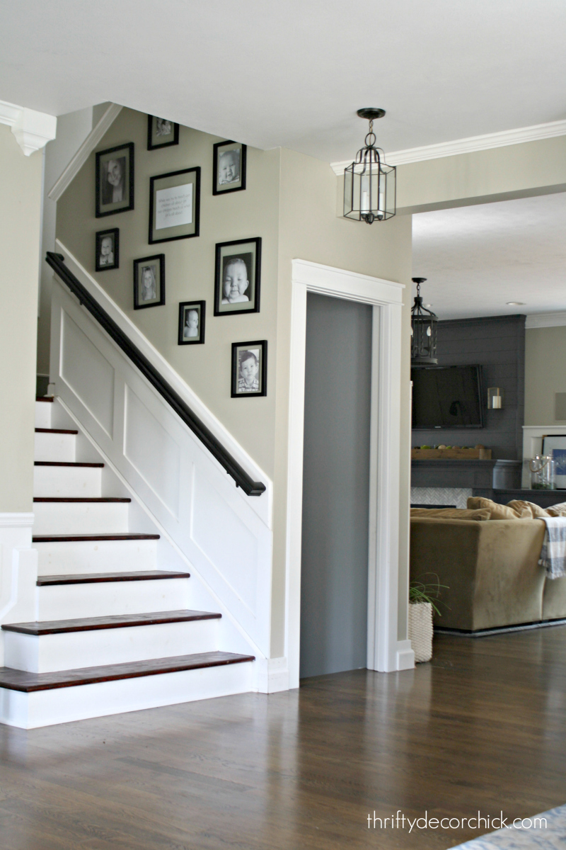 finishing wood stairs
