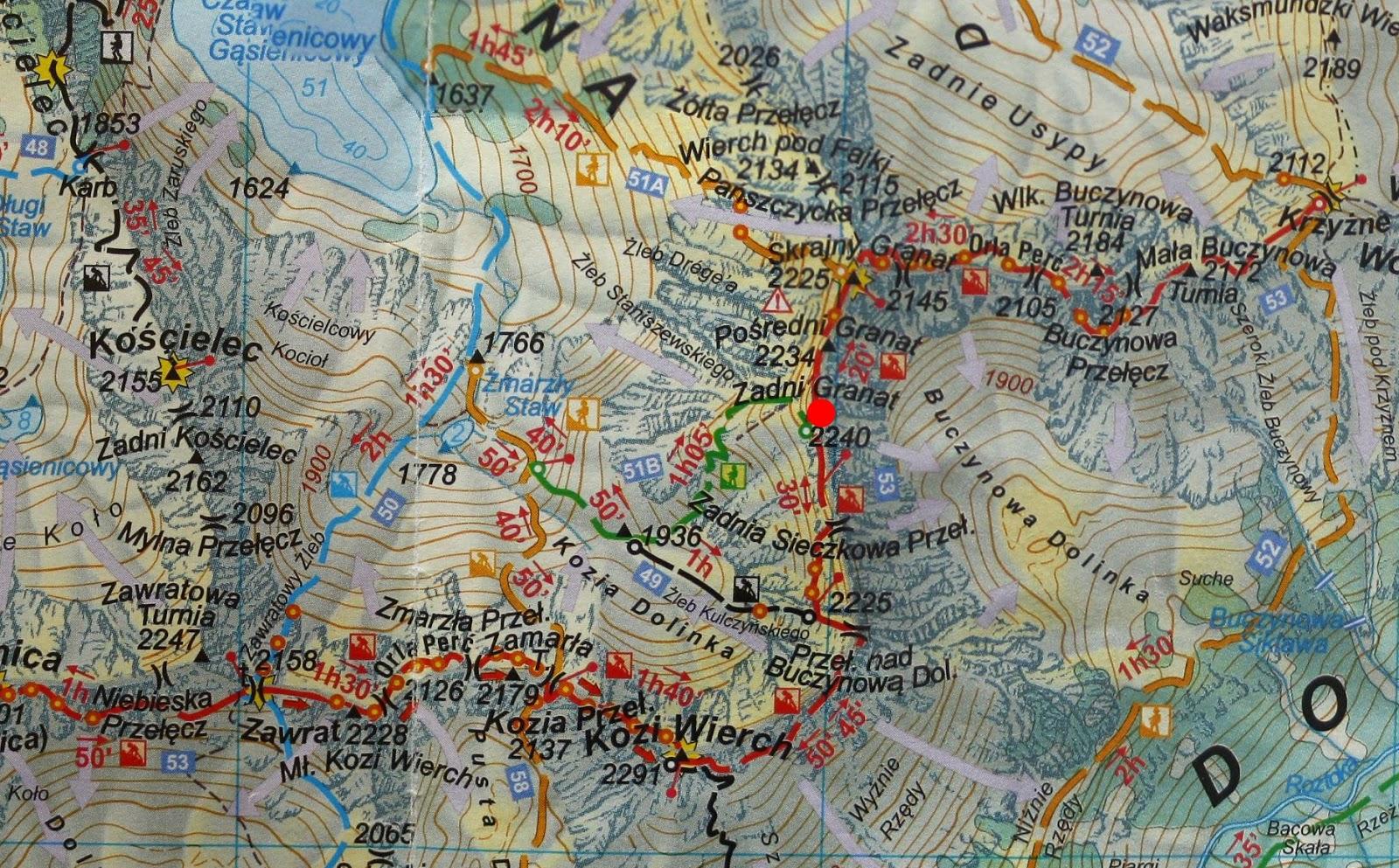 Zadni Granat na mapie