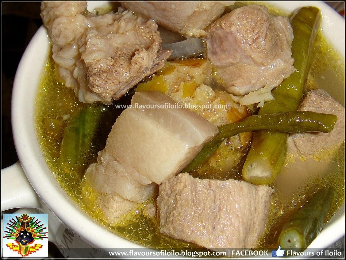 how to cook sinigang sa gabi