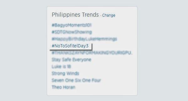 No to Sofitel campaign trending
