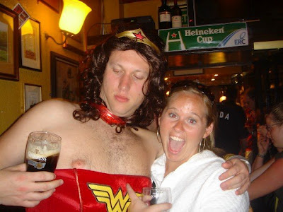 Wonder Woman ona  stag party