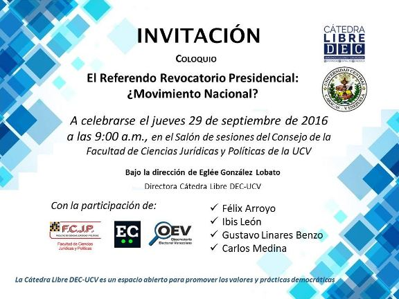 Catedra Libre DEC - UCV Invita