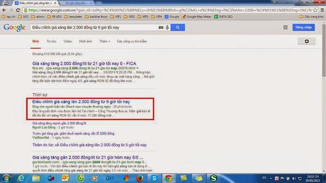 Google News là mục thời sự