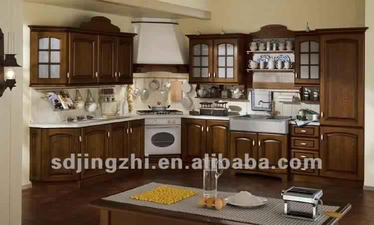 Cuisine meuble bois motivant interieur meuble cuisine 10 - Cuisine bois massif moderne ...