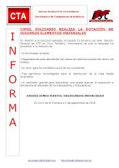 CONIL SOLIDARIO REALIZA LA DOTACIÓN DE DIVERSOS ELEMENTOS MATERIALES