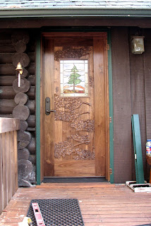 carved door, walnut, stained glass, http://huismanconcepts.com/
