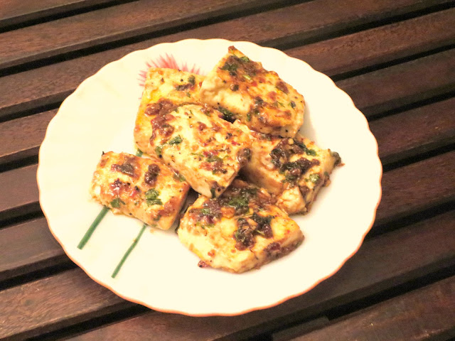 Sweet and sour Tawa paneer
