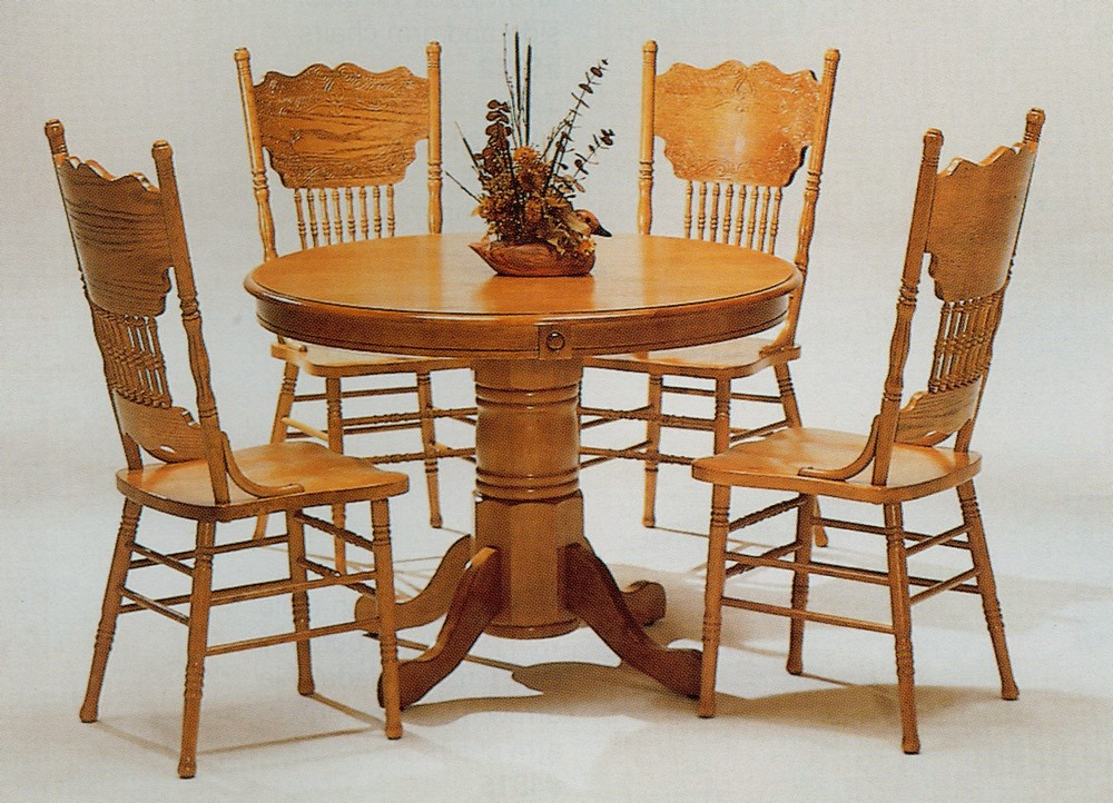 Wooden table chair designs an interior design for Oak dining room table chairs