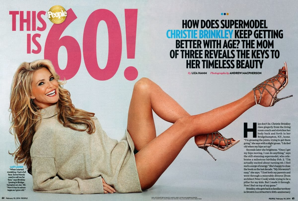 Christie Brinkley HQ Pictures People  Magazine Photoshoot February 2014