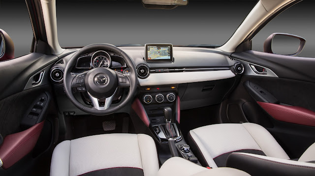 Interior view of 2016 Mazda CX-3