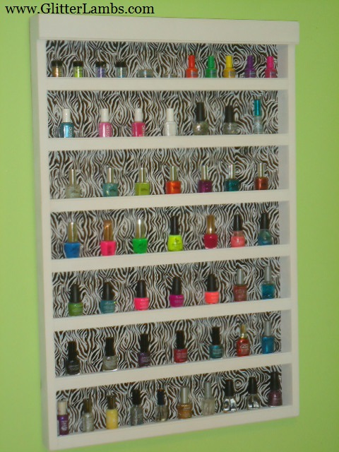Zebra Nail Polish Rack 57