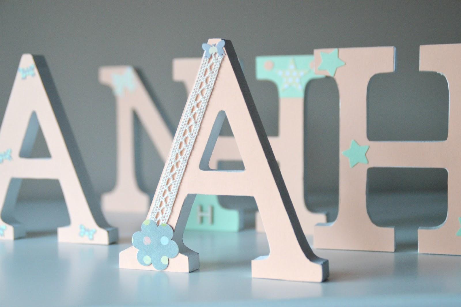 Lunares de papel letras de madera - Letras en madera ...