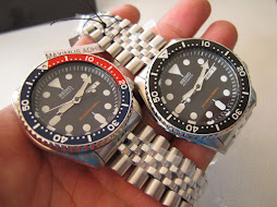 SEIKO DIVER SKX007 AND SKX009 PEPSI BEZEL - JUBILLE BRACELET - AUTOMATIC 7S26 - BRAND NEW WATCH