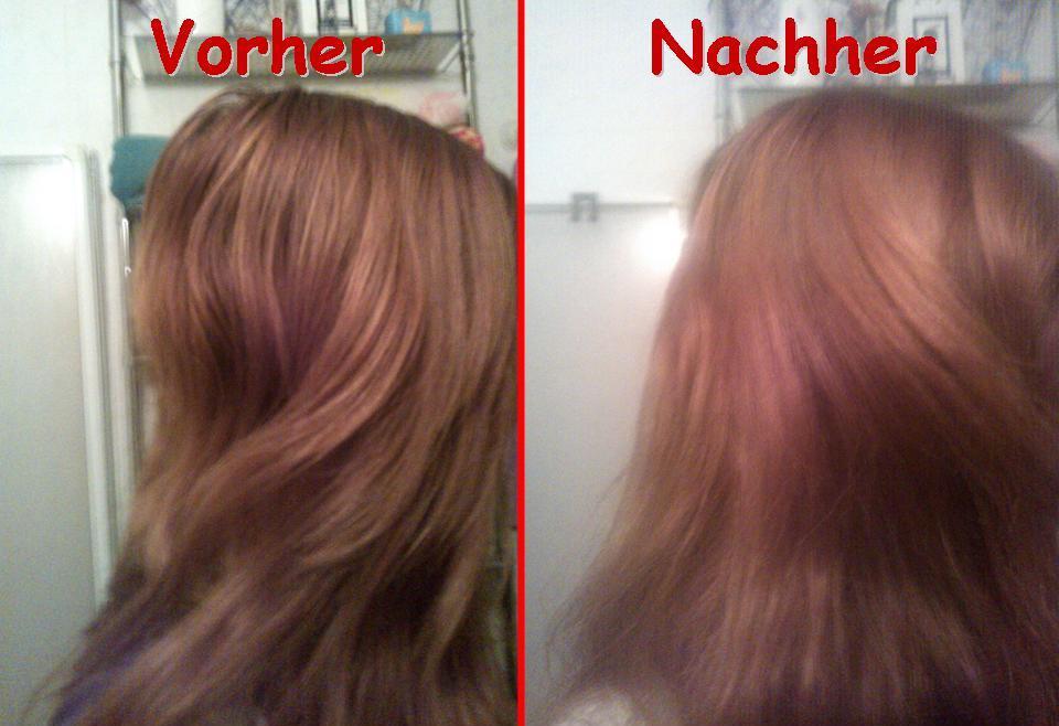 ist die zeit vorrer splt ihr die haare mit wasser aus bis es klar ist danach ist es am besten wenn ihr noch einen conditioner benutzt - Logona Color Creme