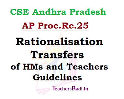 Teachers Transfers, Rationalisation, Guidelines