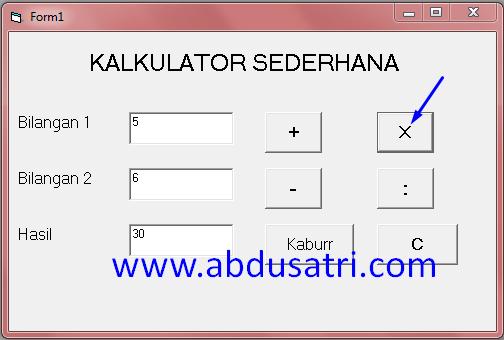 Cara membuat kalkulator dengan VB 6.0