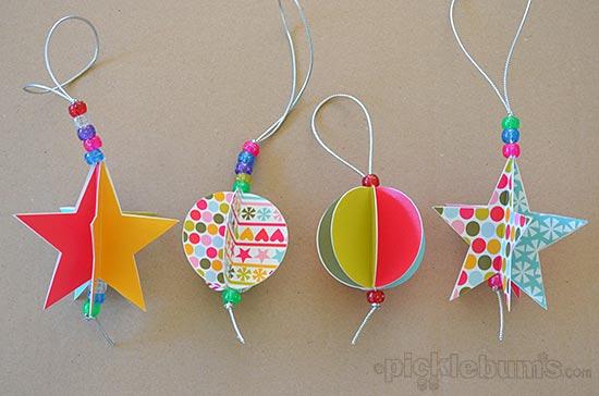 Decorazioni natalizie di carta coloratissime creare - Decorazioni natalizie albero fai da te ...