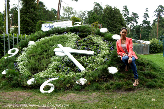 Big real garden clock in Jurmala, Latvia,