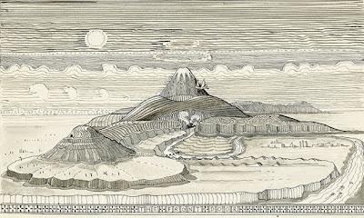 ilustracion de tolkien de la tierra media