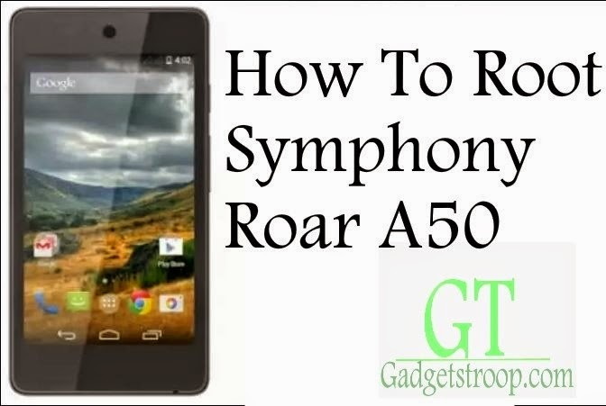 unlock bootloader,install recovery and root Symphony Roar A50