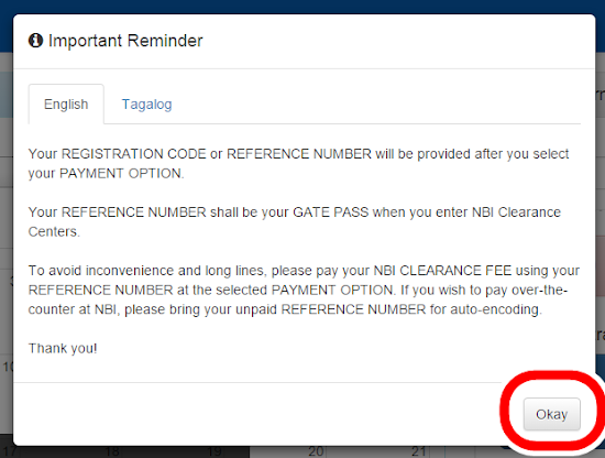 Online NBI Clearance - Step 7