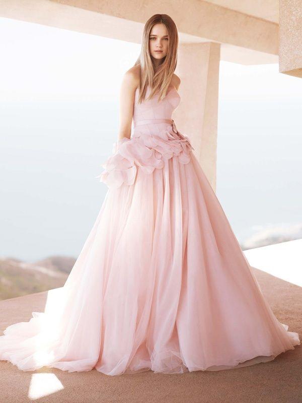 Dawn j 39 s fashion wedding gown pink wedding gowns for Vera wang style wedding dress