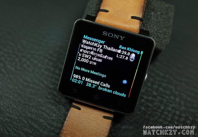 Sony SmartWatch 2 แสดงภาษาไทยใน Facebook