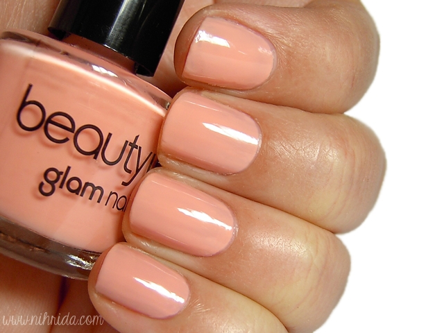 Beauty UK Nail Polish in Peach Melba