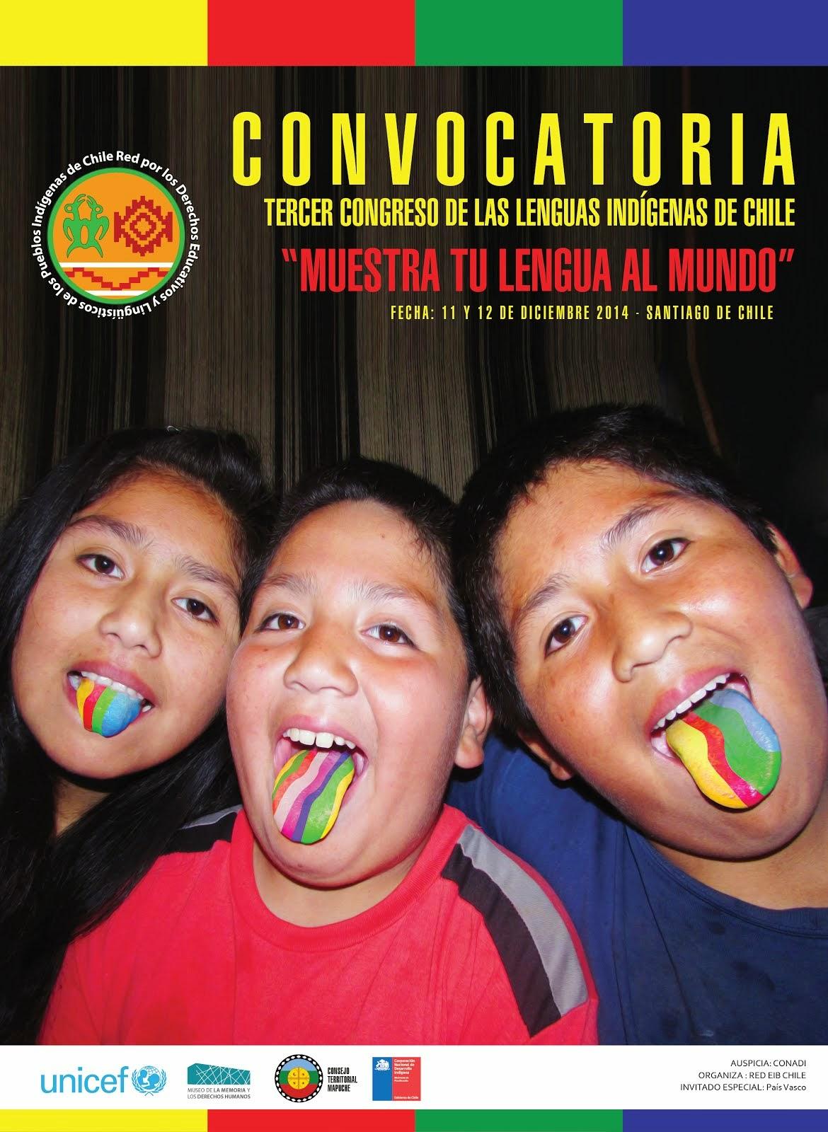 CONVOCATORIA TERCER CONGRESO DE LAS LENGUA INDÍGENAS