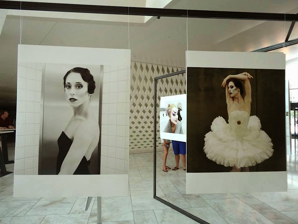 Photo exhibition inside the Oslo Opera House, Ballerinas