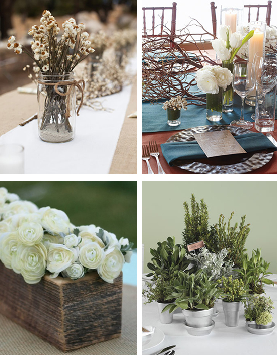 Rustic Wedding Centerpieces and Ideas