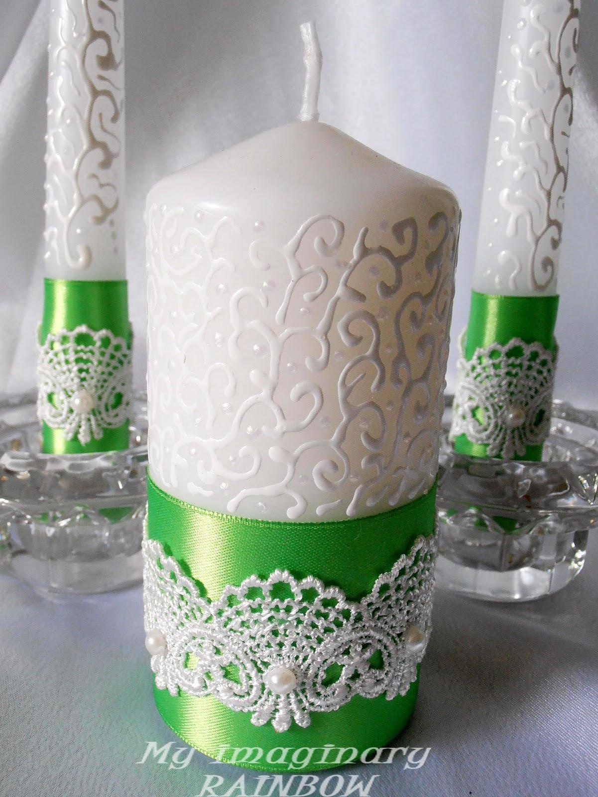 Свечи своими руками на свадьбу