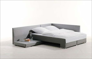 Grey Modern Bed and Sofa