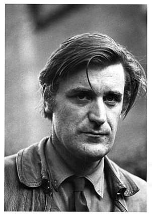 """Flying the black flag of himself' Ted Hughes: Photo Fay Godwin©"