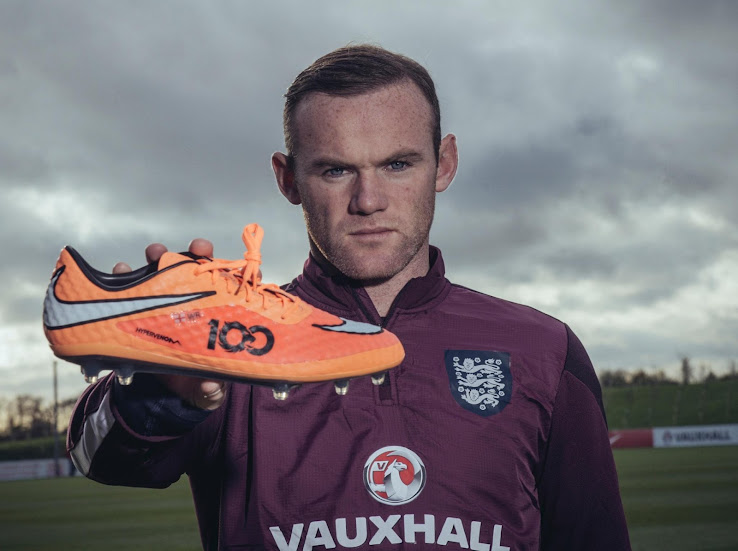 Wayne Rooney Latest Boots Special Wayne Rooney th England Cap Nike Hypervenom Boots Footy