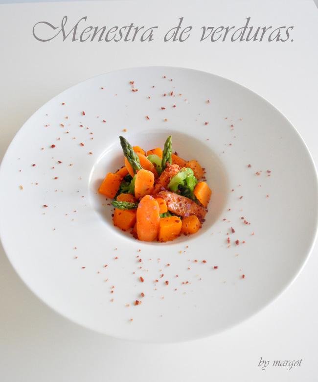 Las recetas de ella y el abanico menestra de verduras con - Menestra de verduras en texturas ...
