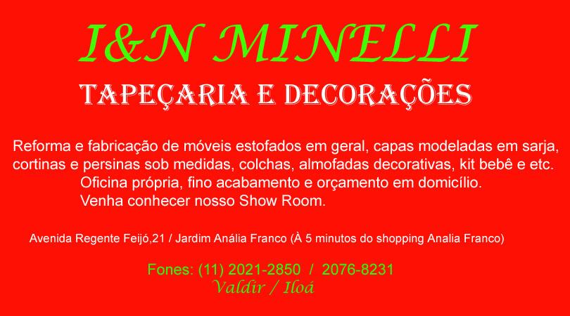 "I.N Minelli  ""Tapeçaria e Decorações"""