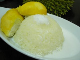 Pulut durian.