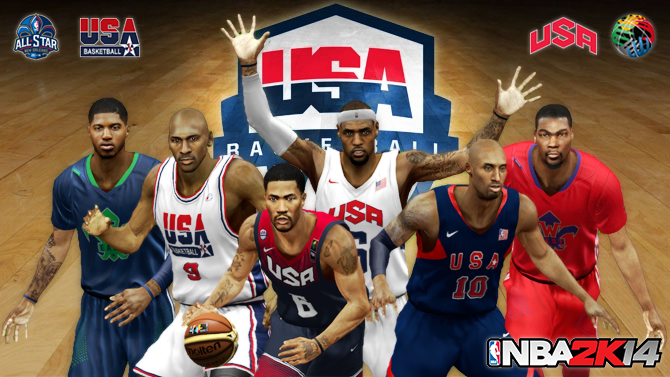 NBA 2K14 Team USA & All-Stars Teams