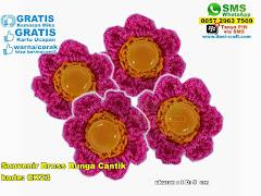 Souvenir Bross Bunga Cantik