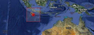 Fuerte terremoto de 6,7 grados ocurrió cerca de las Islas Christmass, al sur de Java, Indonesia el 13 de junio de 2013 a las 16:47 UTC.