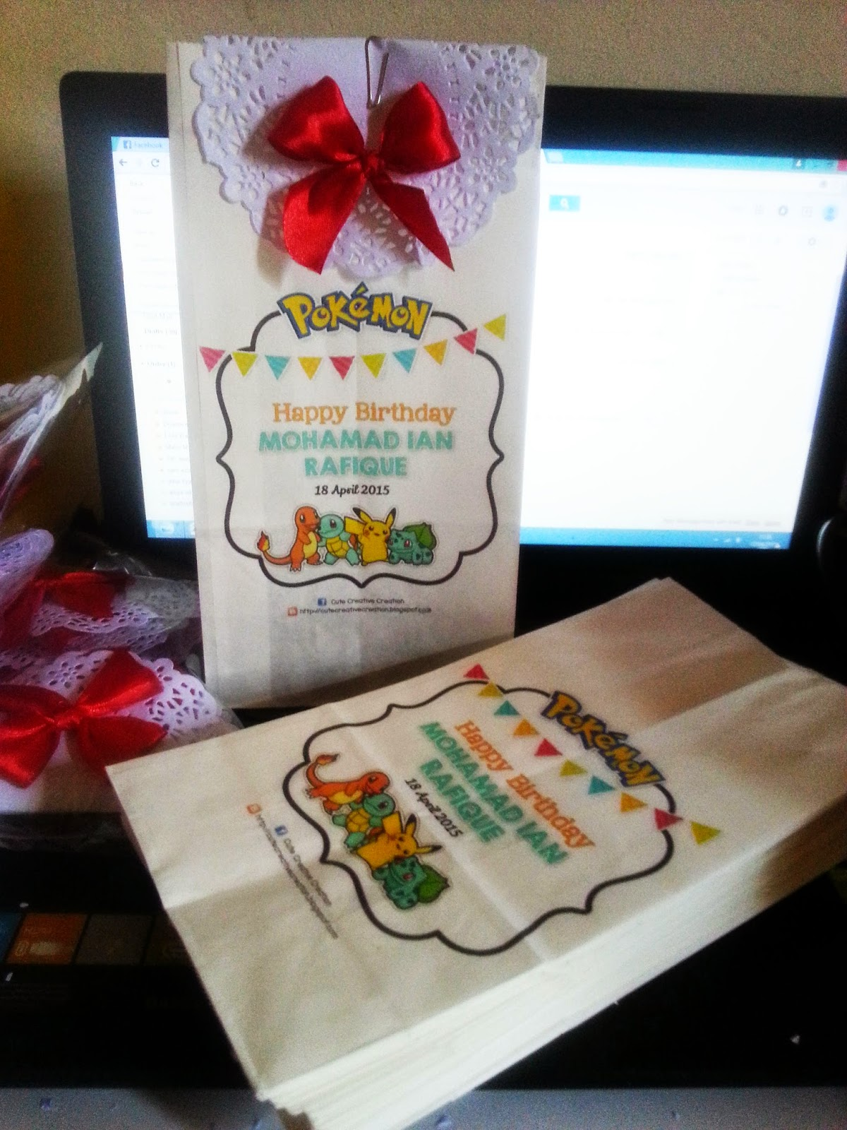 printed paper bag harijadi pokemon