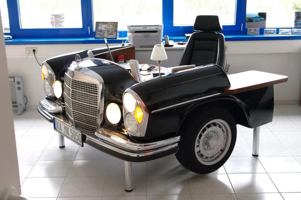 baurspotting car furniture made from car parts. Black Bedroom Furniture Sets. Home Design Ideas
