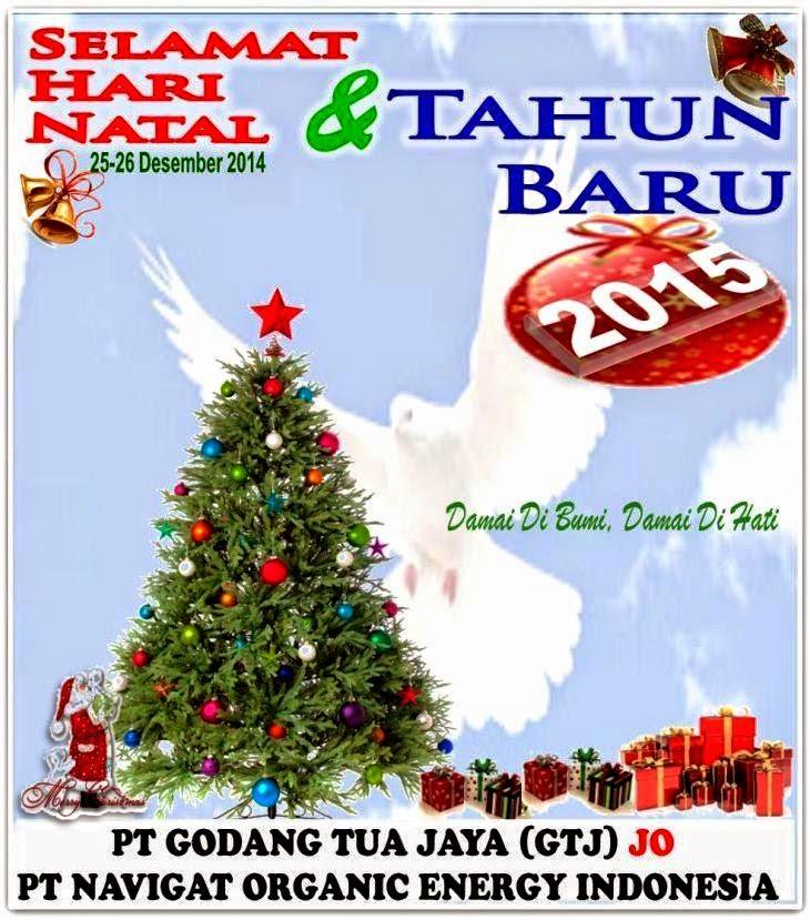 IKLAN NATAL 2014 & TAHUN BARU 2015 - PT GODANG TUA JAYA (GT