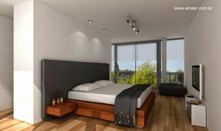 Dormitorio de casa contemporánea en Buenos Aires