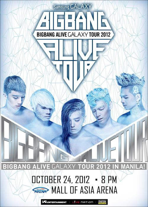 Ticket Prices BIGBANG LIVE in Manila 2012